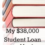 My $38,000 Student Loan Payoff Plan
