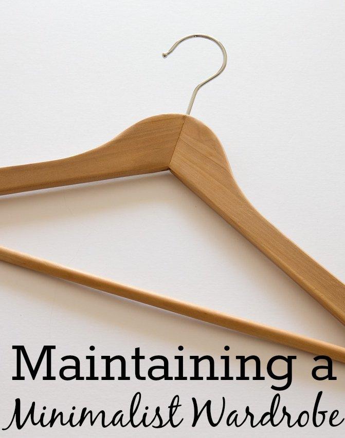 Maintaining a Minimalist Wardrobe