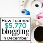 $5,770 in Extra Income in December