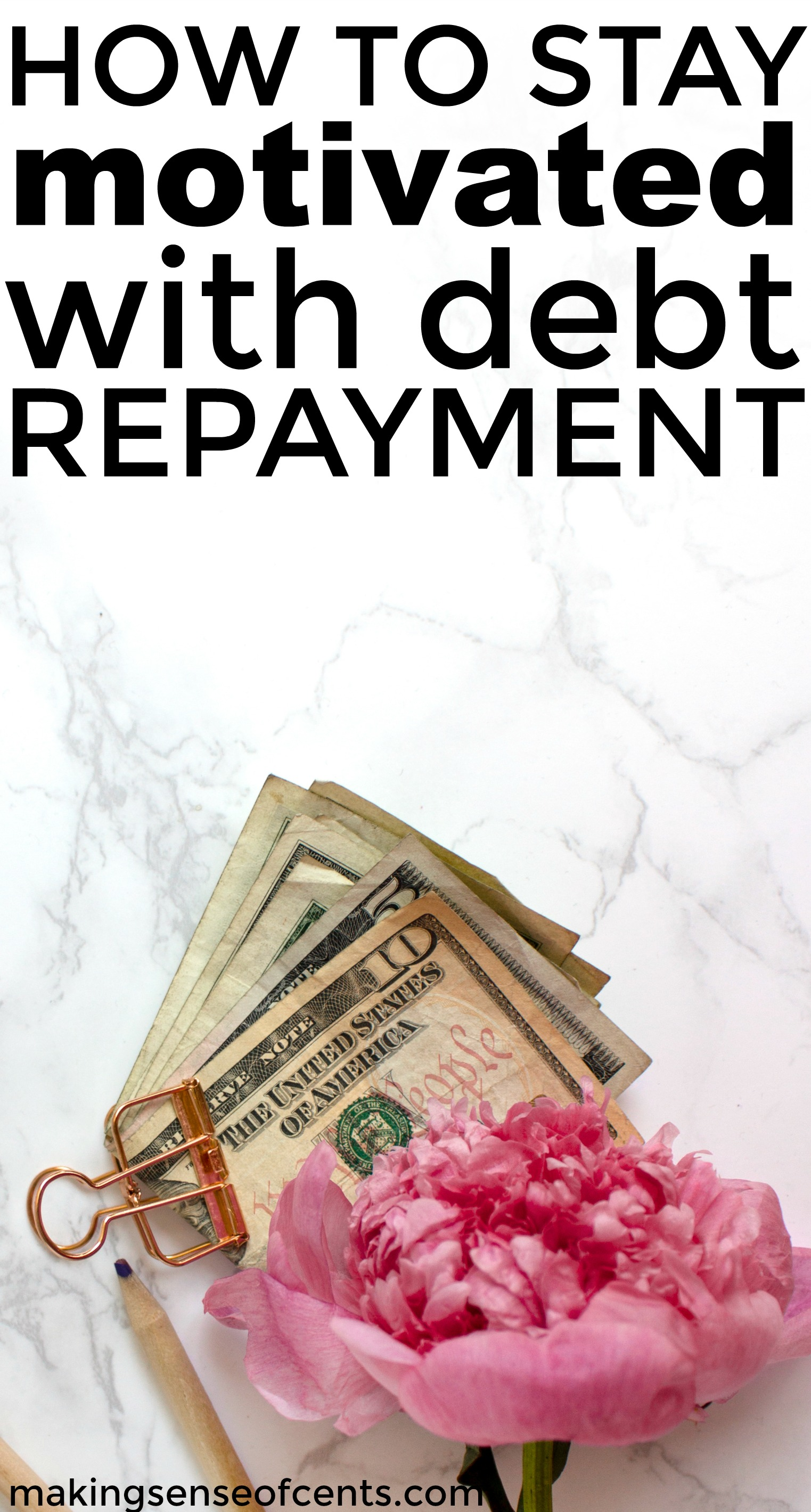 Find out how tos tay motivated with debt repayment. This is a great list.