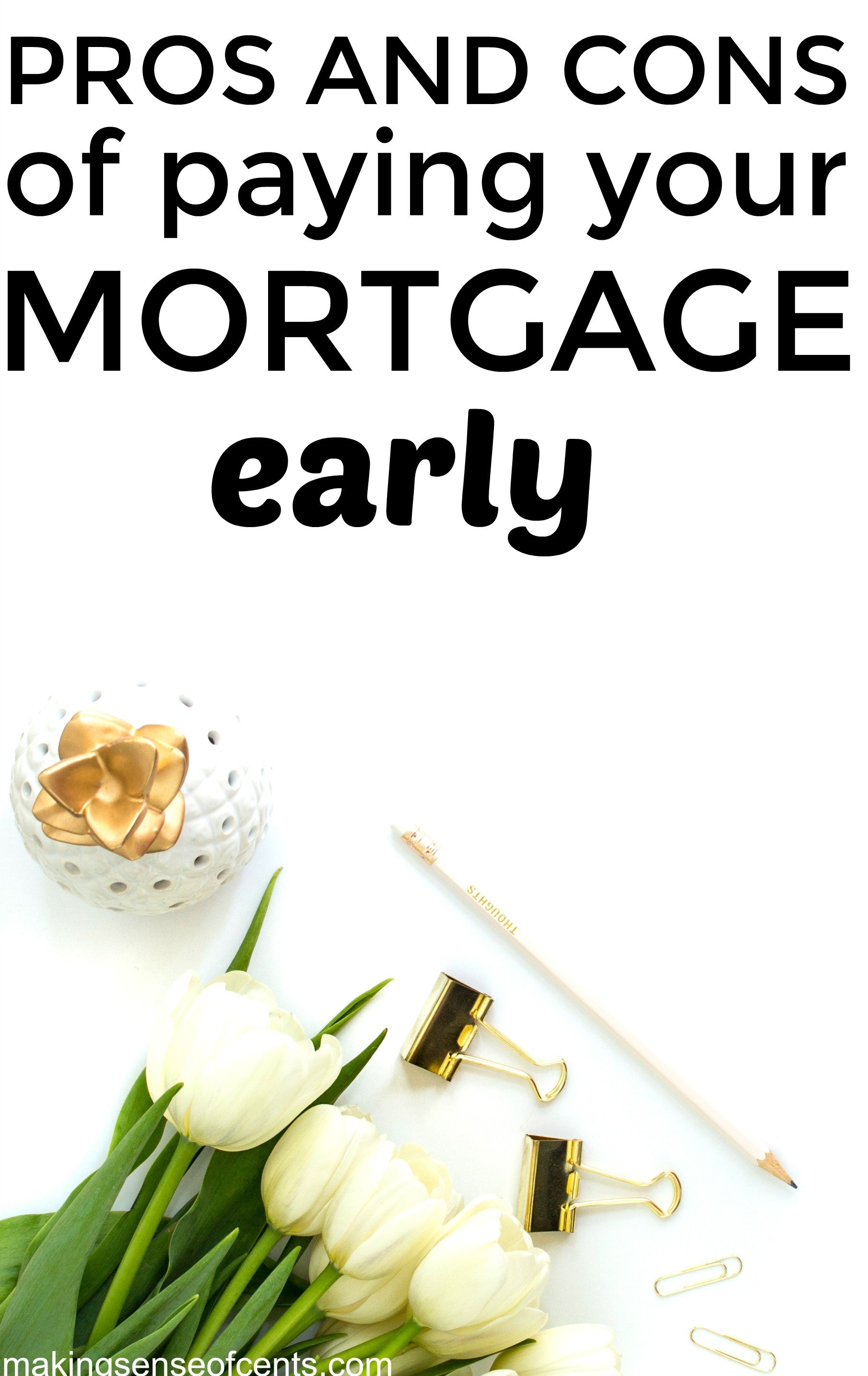 Find out the pros and cons of paying your mortgage off early. This is a helpful list!