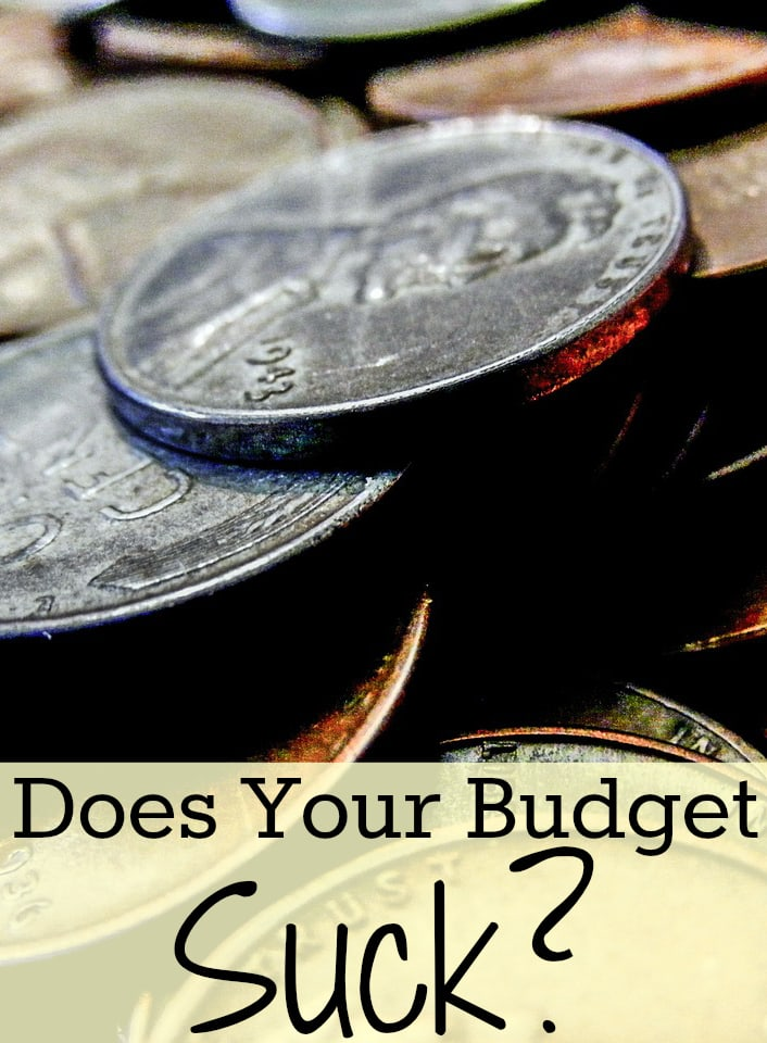 Does your budget suck? Pennies picture, coins picture