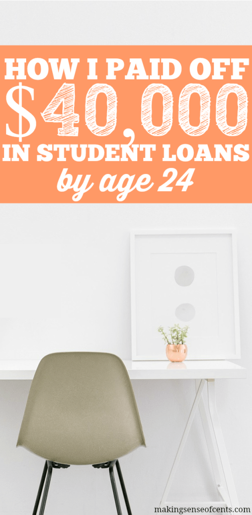 I paid off $40,000 in student loans by the age of 24, just within 7 months of me starting my payoff plan. Yes, it is possibly to pay off your loans quickly!