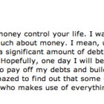 Letting Money Control You