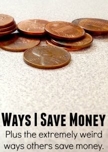 Things I Do To Save Money - Money Picture