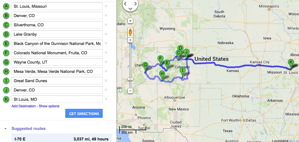 Unplanned road trip planning to colorado and utah part 1 for Colorado plan
