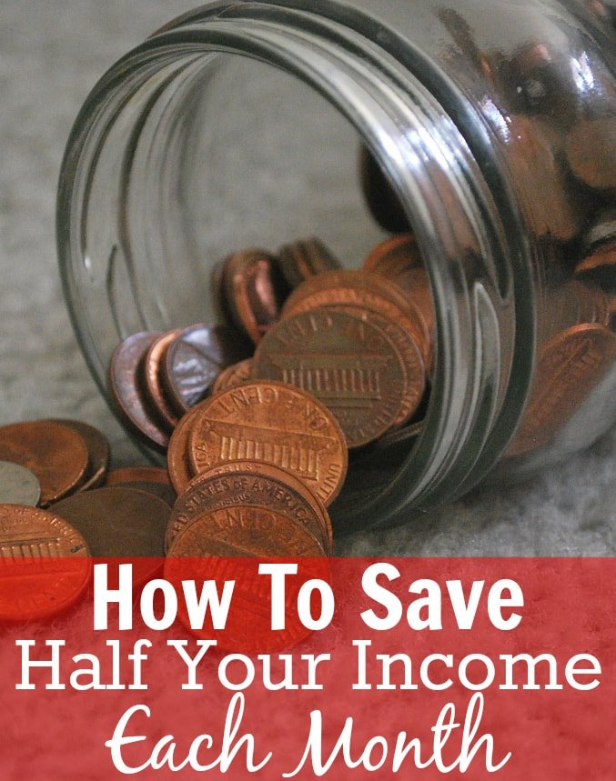 How To Save 50% Or More Of Your Income. If you are wanting to save half of your income or even more, then you must read this blog post!