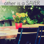 A Spender and a Saver Relationship