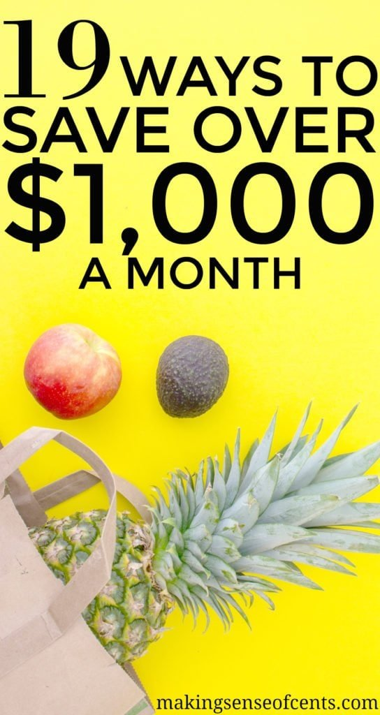 How much money are you saving each month? Check out this blog post that will help you find SO MANY ways to save over $1,000 a month!