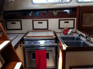 I Live in a 175 Square Foot Tiny Home - A Sailboat Kitchen Picture