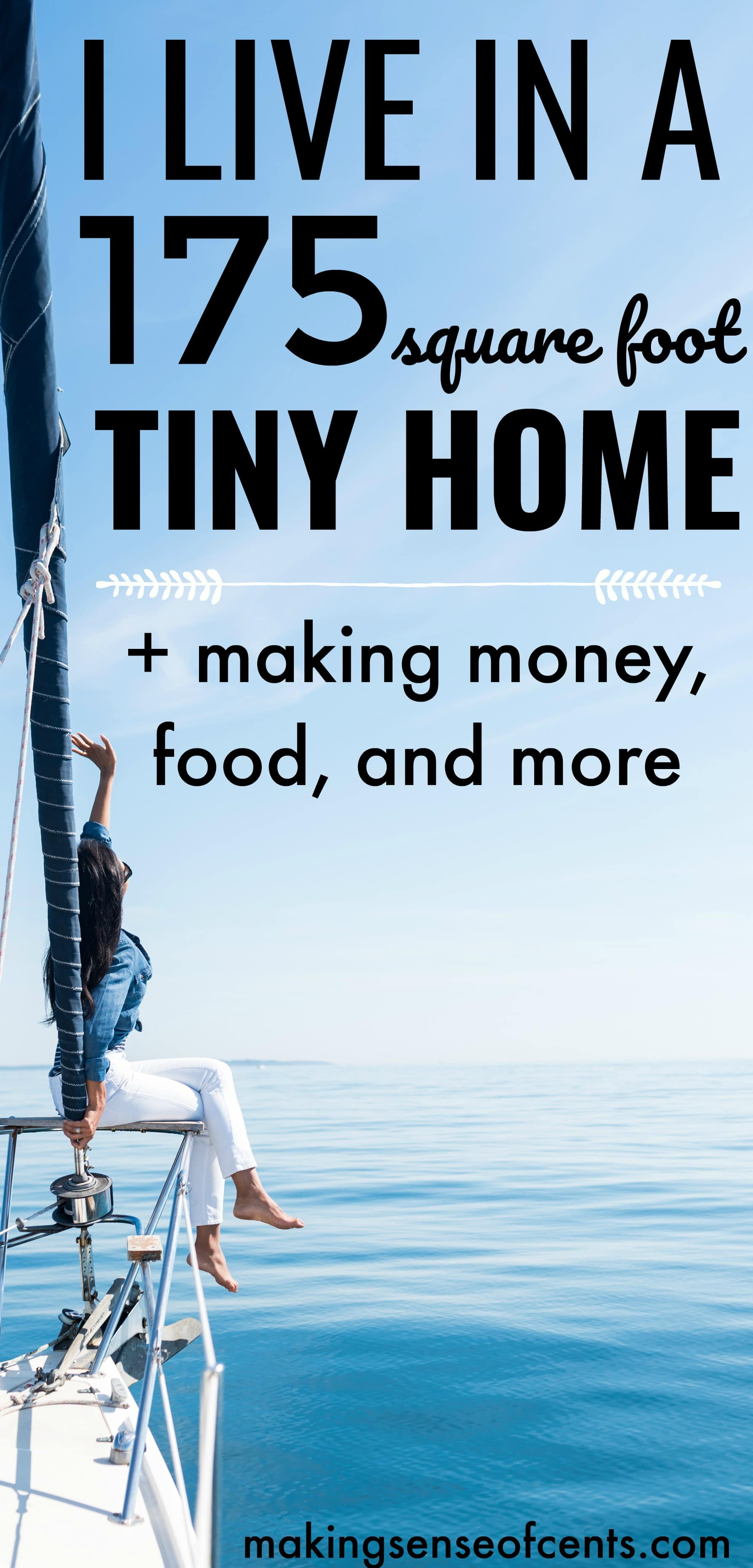 How I live in a 175 square foot tiny home - #sailboat #tinyliving #tinyhome
