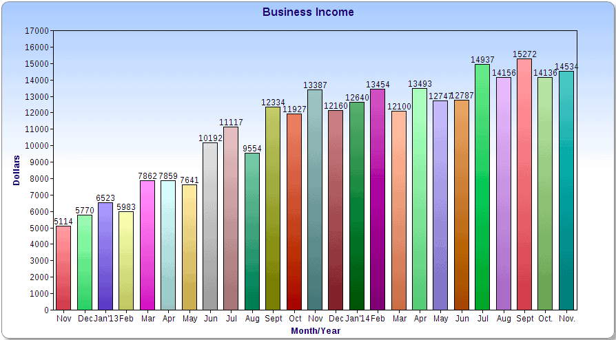 Monthly Business Income Chart Picture