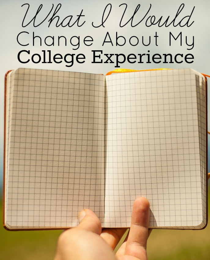 What I Would Change About My College Experience Journal Picture