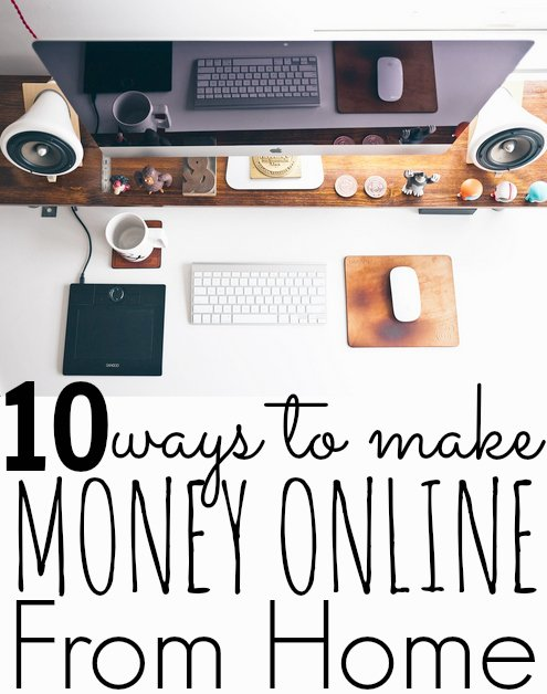 10 Ways To Make Money At Home Online - Make Side Money