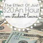 The Effect of Just $20/hr on a Student Loan