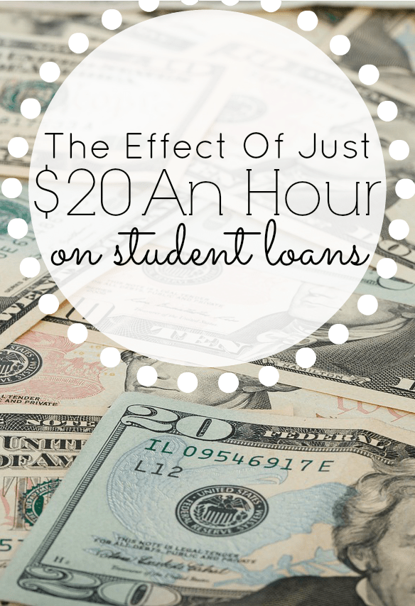 The Effect of Just $20hr on a Student Loan