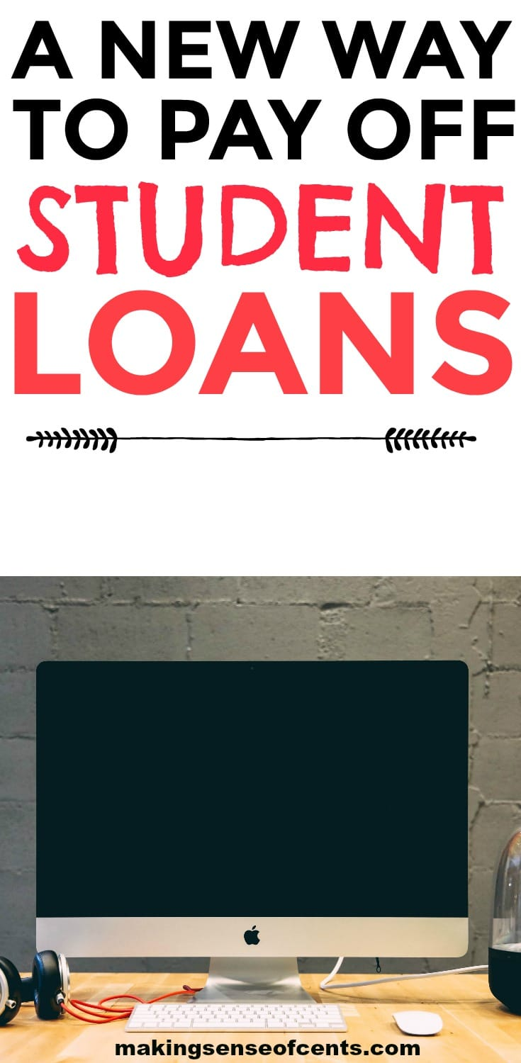 Check out this new way to pay off student loans. #studentloans