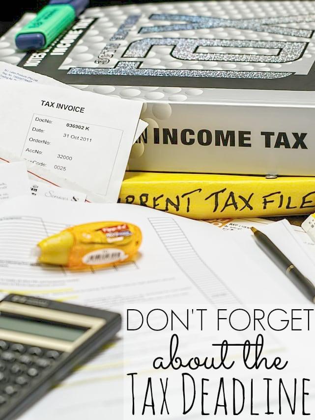tax deadline 2015 - tax filing deadline