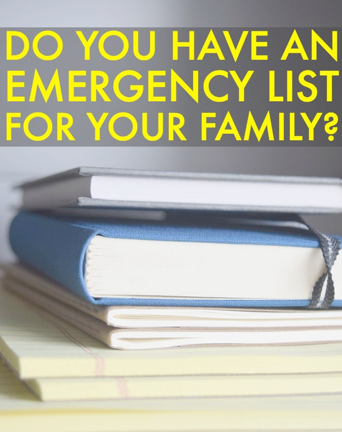 Financial Emergency List For An Emergency Response Plan