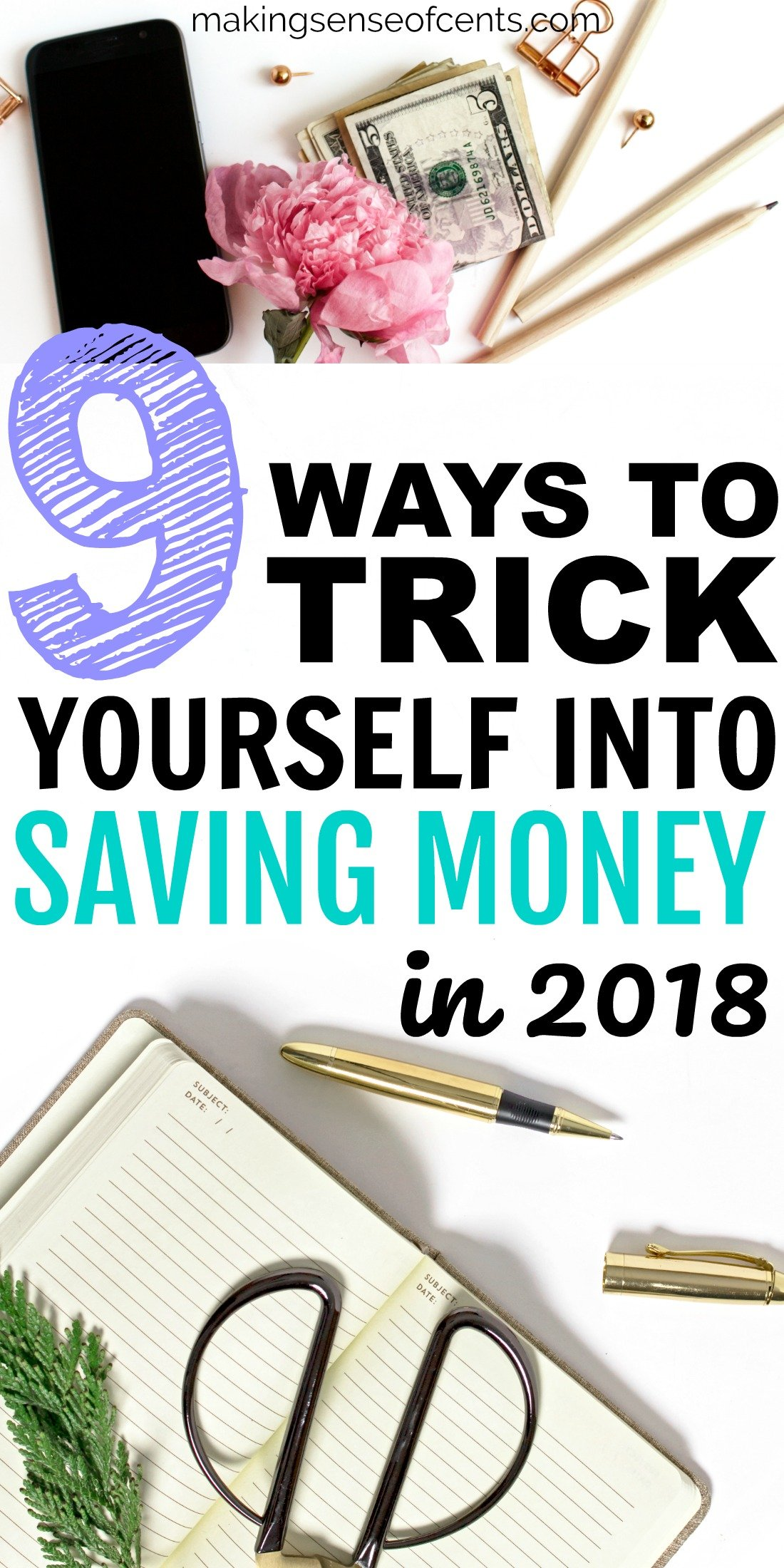 Find out how to trick yourself into saving money. #savingmoney #moneysavingtips