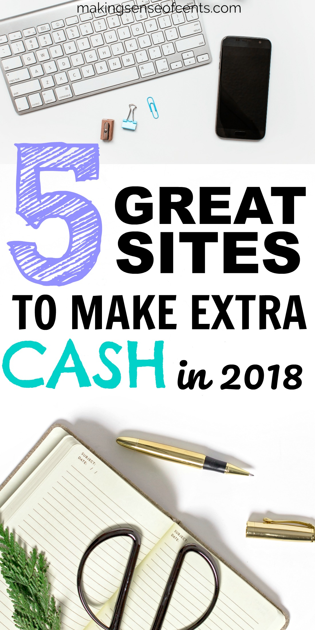 Check out this list of sites to use to make money. #surveysites #makingmoney #makemoney