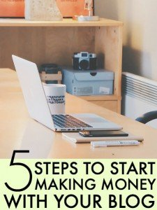 Steps to Follow to Start Making Money With A Blog (1)