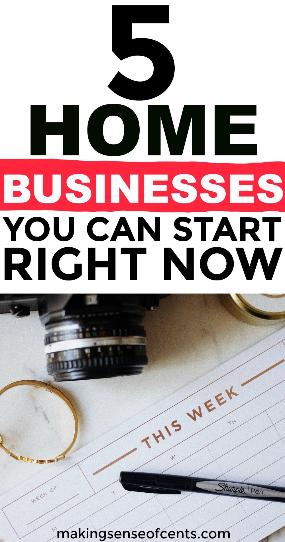 Check out this list of 5 home businesses you can start right now. This is a great list!