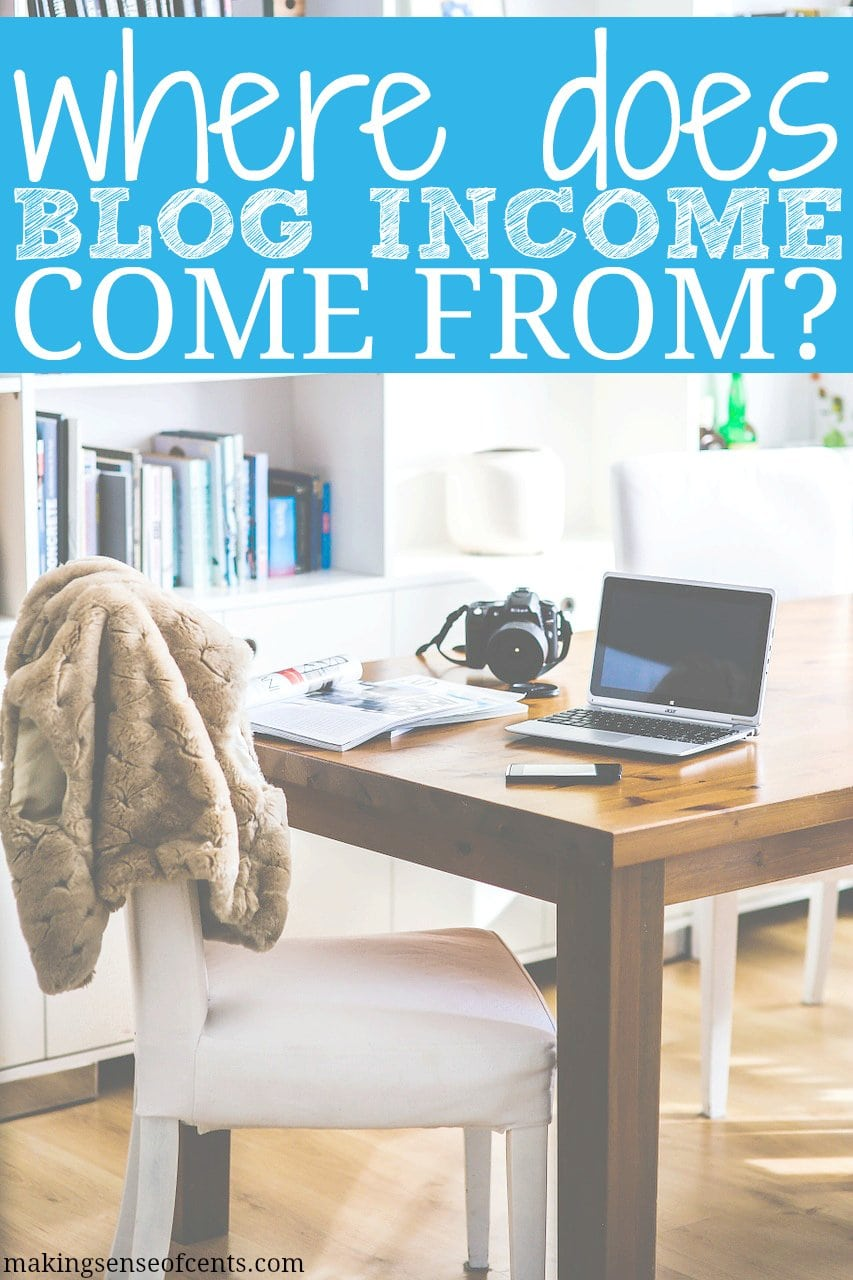 Where does blog income come from