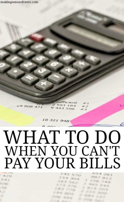 What To Do When You Can't Pay Your Bills