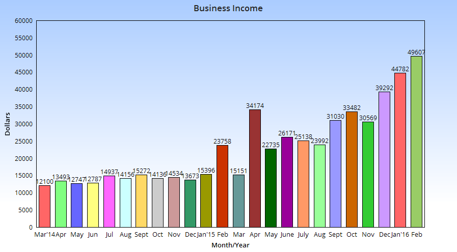 Annual income chart - February 2016