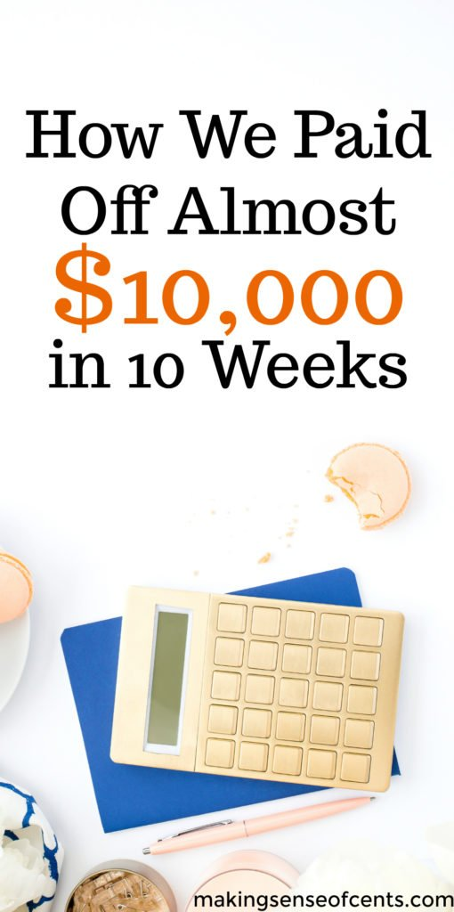 Here's how this family paid off nearly $10,000 in debt in just 10 weeks. This debt payoff story is amazing!