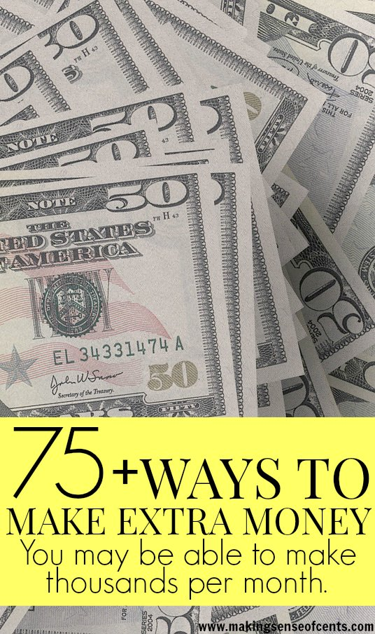 There are many ways to make extra money, whether you have just one hour each week or 40. Here are over 75 different ways to make extra money.