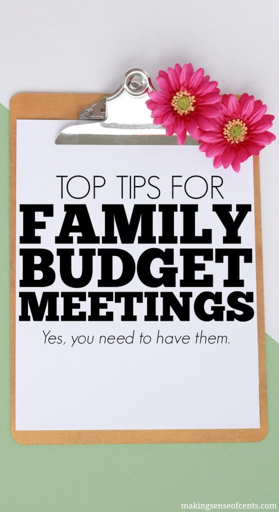 Family Budget Meetings - Yes, You Need To Have Them