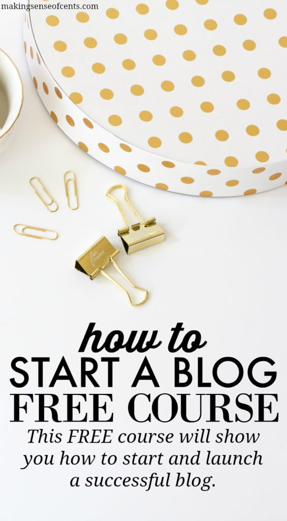 How To Start A Blog FREE Email Course