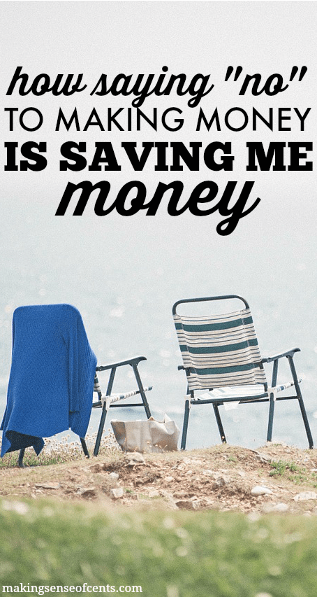"Could saying ""no"" to making money help you to save more money? Yes, this actually may help you to live a more enjoyable life as well as help you save money."