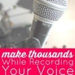 Make Thousands – While Recording Your Voice From a Closet