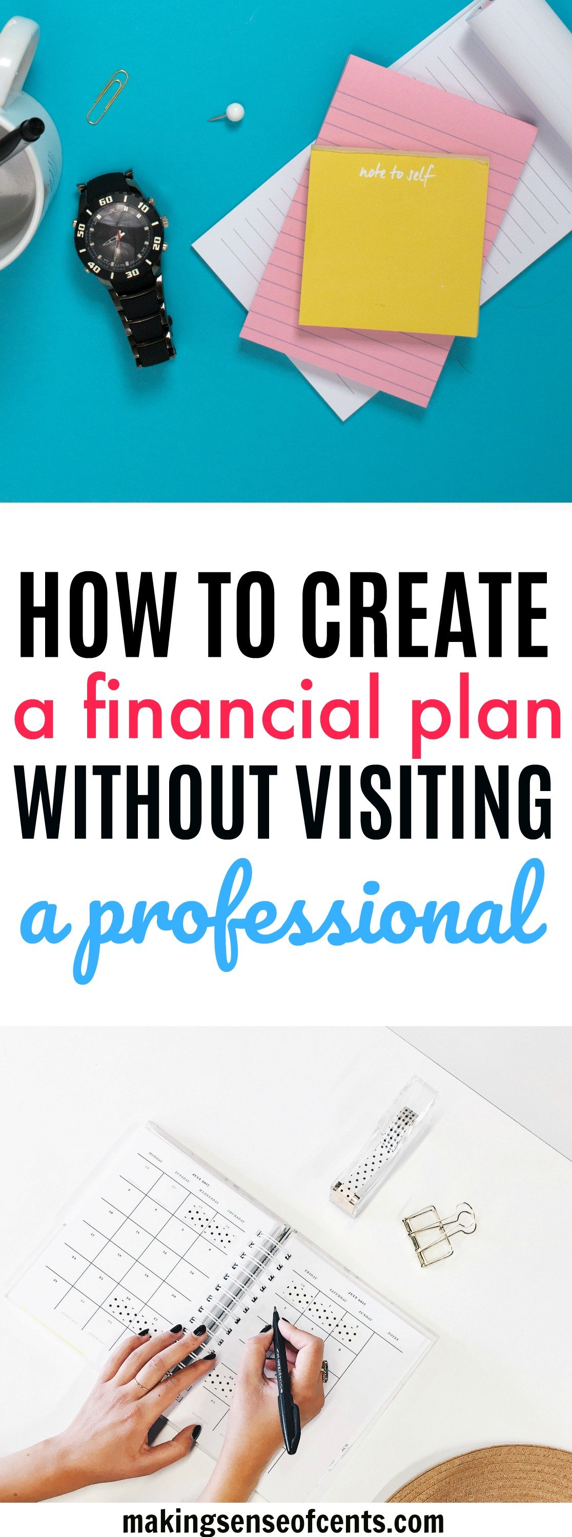how to come up with a financial plan without visiting a professional