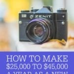 How To Make $25,000 – $45,000 A Year As A New Photographer