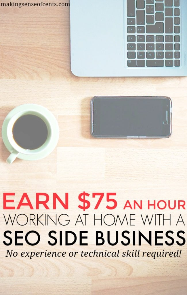 A new SEO business owner can expect to make $75 per hour. See if you're interested by first trying out this FREE SEO training course!