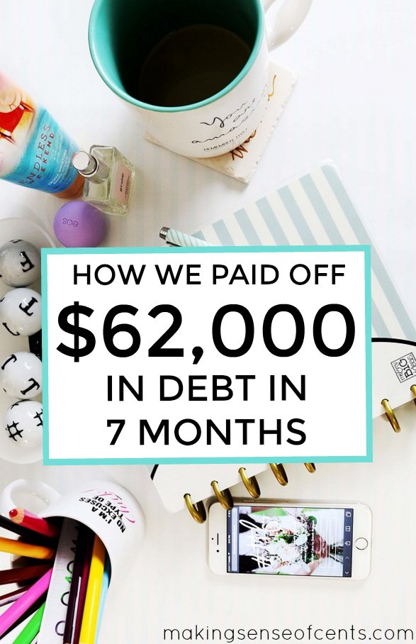 Are you interested in paying down debt? Here's how this couple paid off $62,000 in debt in just 7 months! Yes, it is possible to do this!