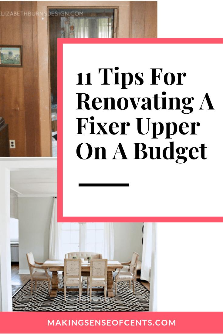 Saving Money When Renovating A Fixer Upper - Fixer Upper Homes