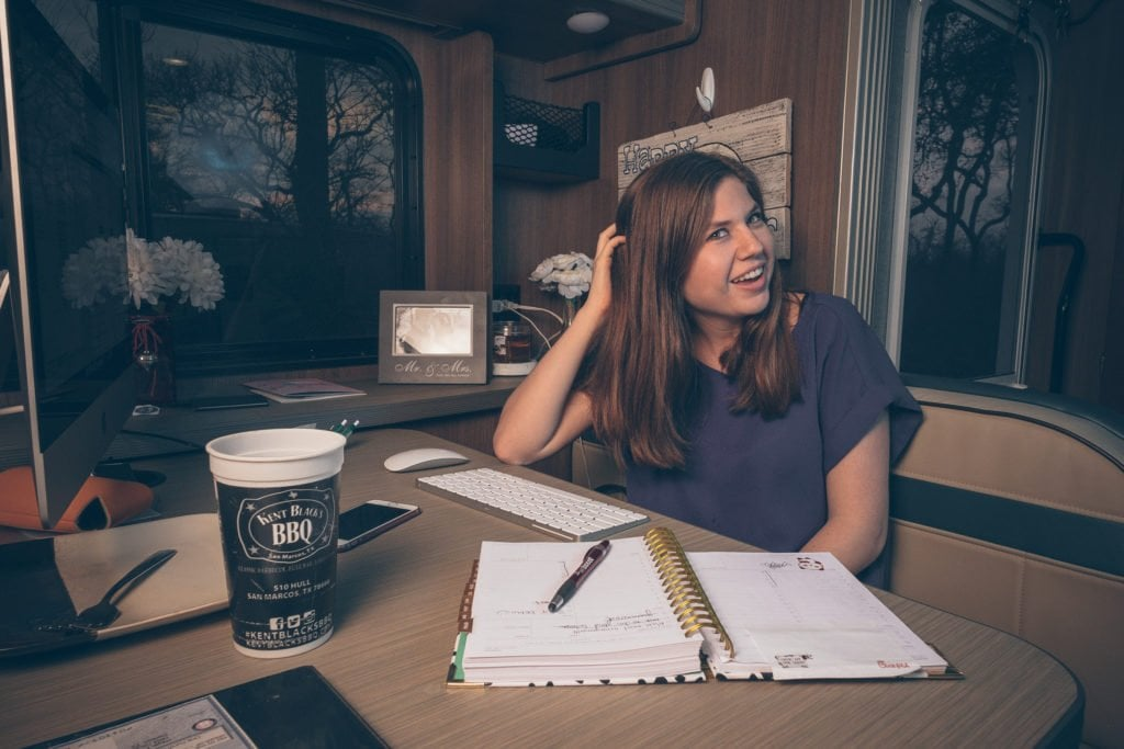 Heath and Alyssa Padgett are living in an RV full-time, making a living, and documenting RV life all at the same time. Here's how they make this a reality!