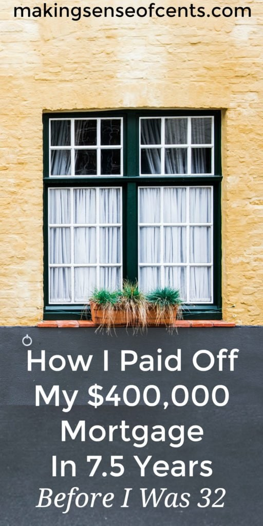 Rob was able to pay off his $400,000 mortgage in just 7.5 years, all before he was 32 years old. Here is his mortgage payoff story.