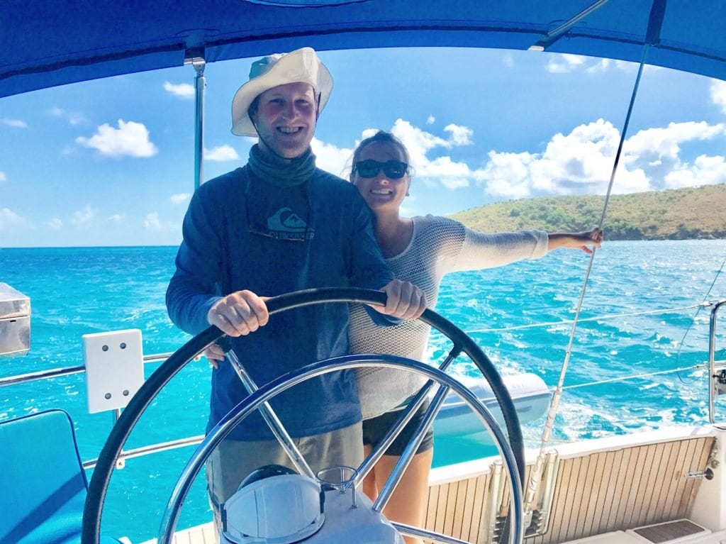 We went on a 10 day sailing charter about the British Virgin Islands and it was AMAZING! This bareboat charter with Sunsail in the BVIs is something I definitely recommend doing.