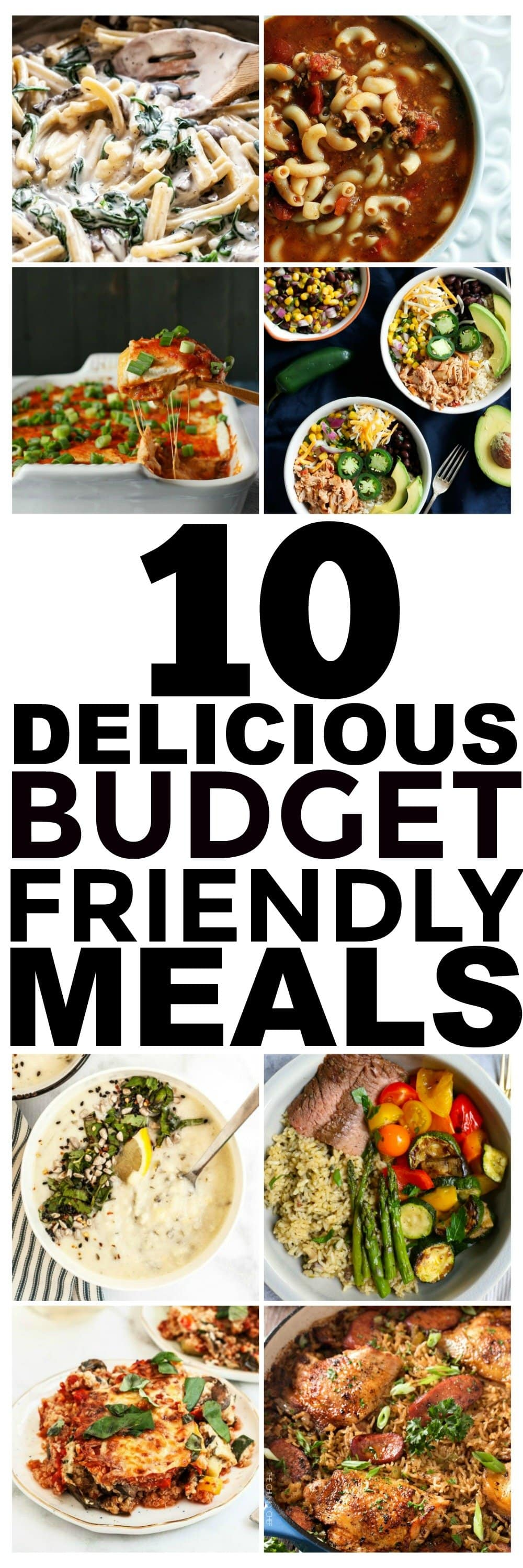 Looking for budget recipes? Here are 10 cheap easy meals that you should start making. Yes, these are cheap meals that are delicious! These healthy meal and dinner ideas for families or even just for two or one are easy and delicious, and some are even vegetarian and vegan!