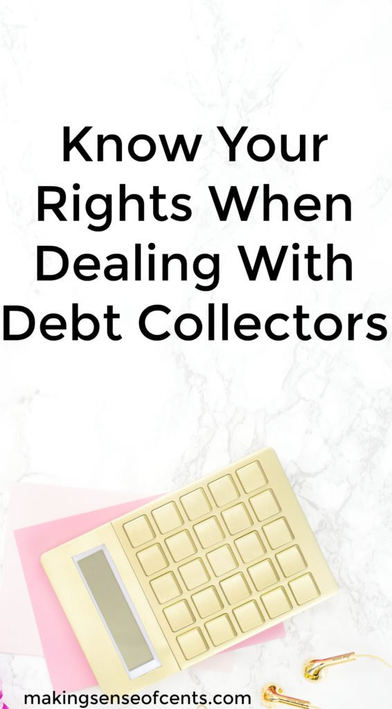 People dread dealing with debt collectors, whether it's an mistake with the bill collector or if it's a legitimate bill that was never paid.