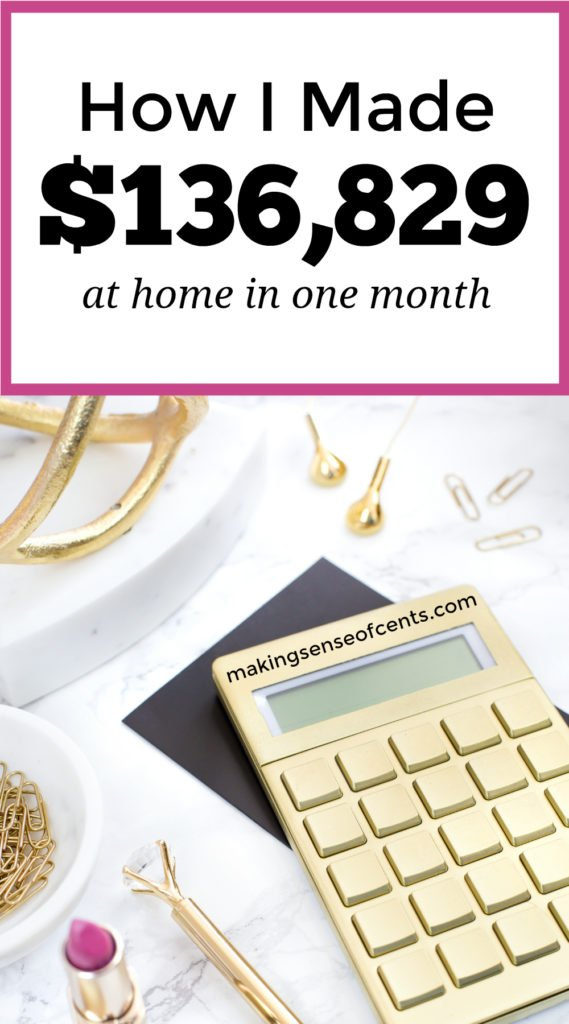 Do you want to earn a living from home? Here's how this woman made over $100,000 last month working from home! #howtostartablog #startablog #workfromhome #makeextramoney
