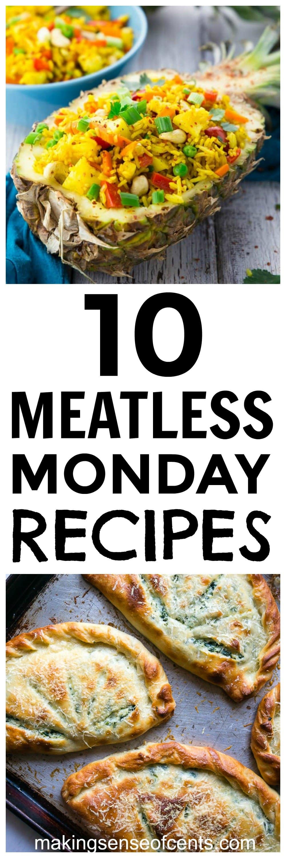 Are you looking for meatless Monday recipes? Here are healthy meatless meals for dinner, crockpot, they're easy ideas, and some great vegan ideas as well! #meatlessmonday #meatlessrecipes #meatlessmondayrecipes