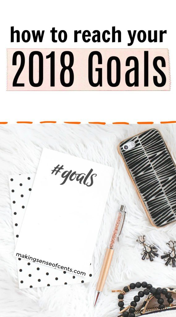 Check out these tips on 2018 goals and 2018 goal setting so that you can be successful! Only around 8% of people achieve their new year resolutions each year. #2018goals #setting2018goals #goalsetting