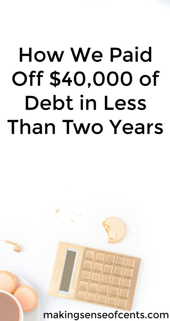 How We Paid Off $40,000 of Debt While Saving for a Rainy Day in Less Than Two Years.